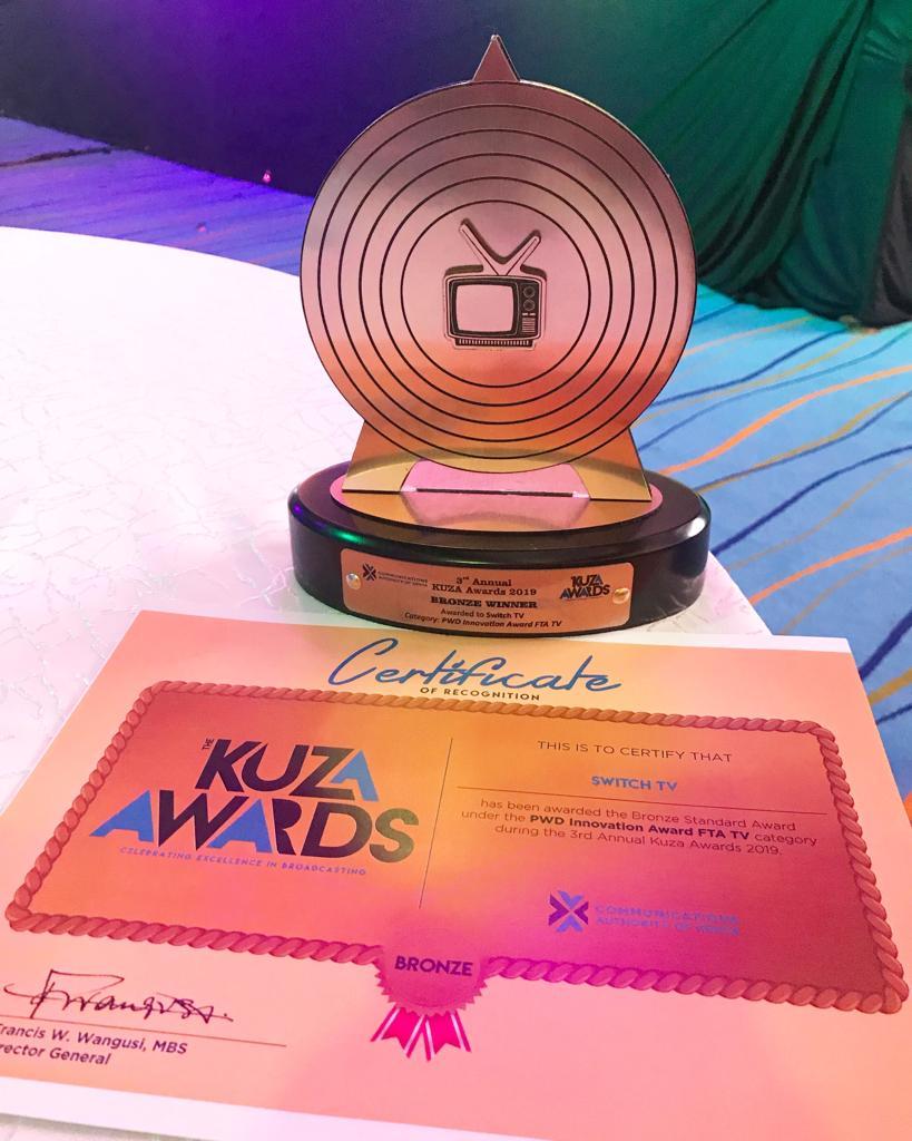 Switch TV takes home Kuza 2019 Award